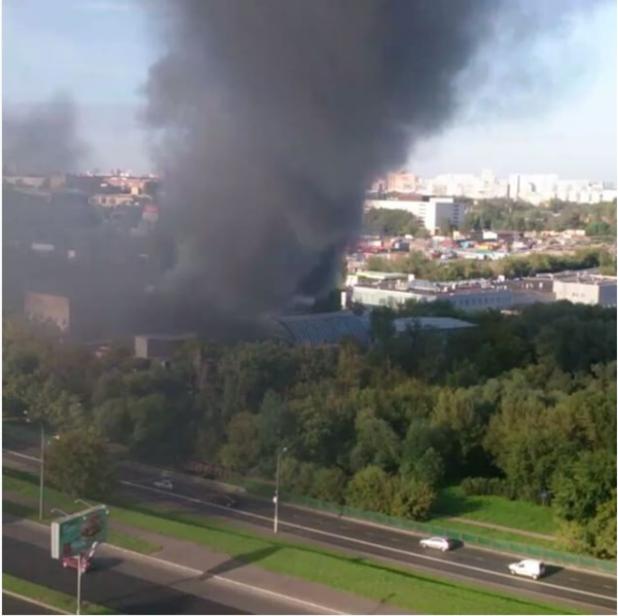 пожар в москва