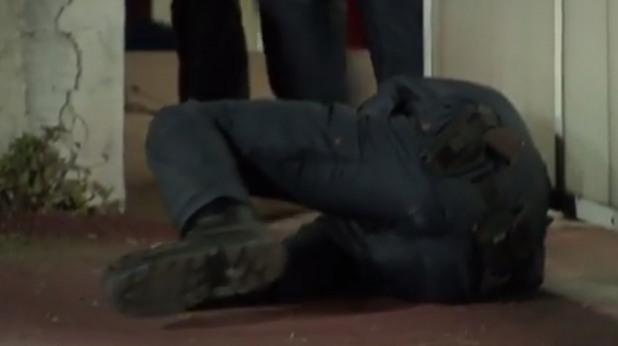 цска - черно море, ранен полицай