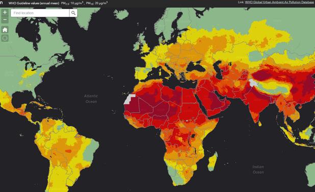 замърсяване на въздуха, СЗО