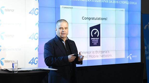 Главният изпълнителен директор на Теленор България г-н Майкъл Фол