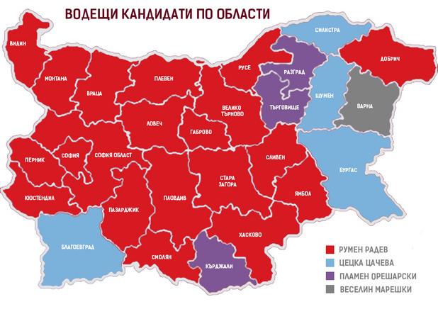 карта на избирателите