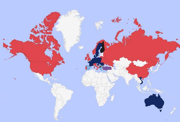 гласове по света избори 2016