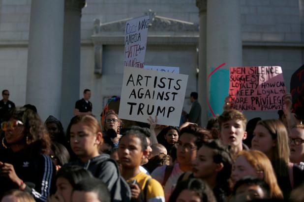 антитръмп протест,протест срещу тръмп