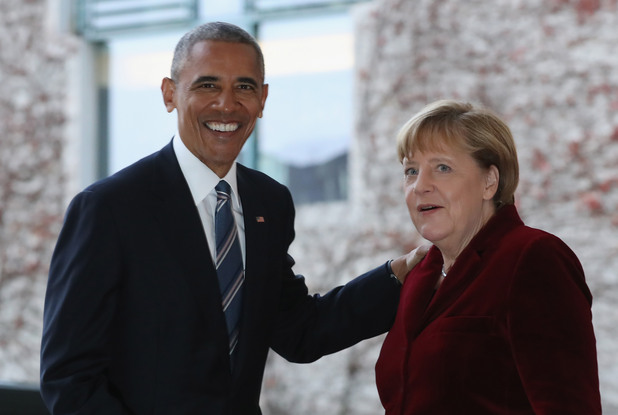 Обама и Меркел