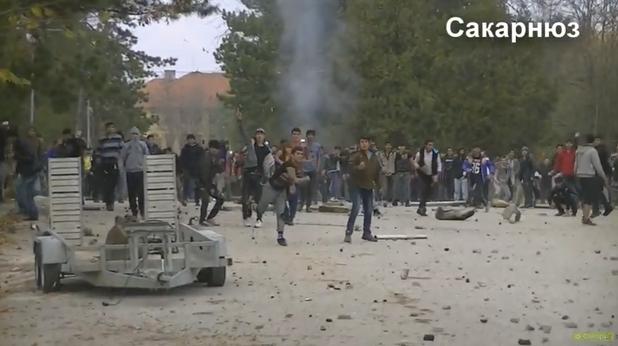 бунт в бежанския лагер в харманли