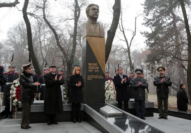 Откриване на паметника на Васил Левски във Военната академия