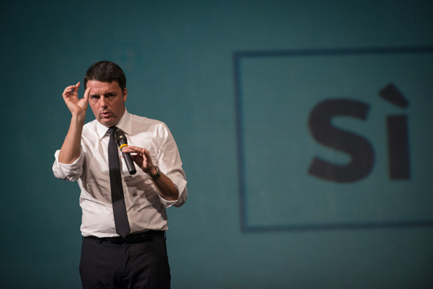 "матео ренци агитира ""за"" референдума за конституционната реформа"