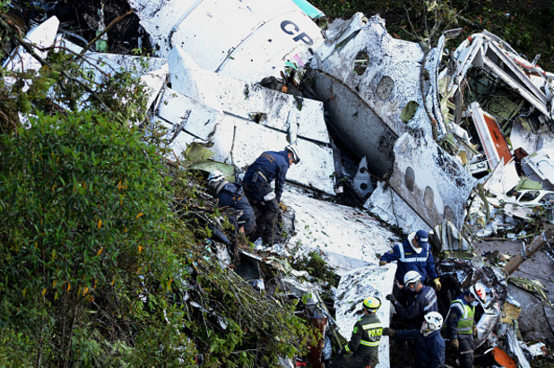 самолетната катастрофа с отбора на чапекоензе в колумбия