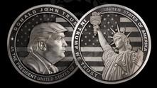 монета с лика на Тръмп