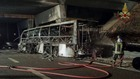 изгорелият автобус край Верона