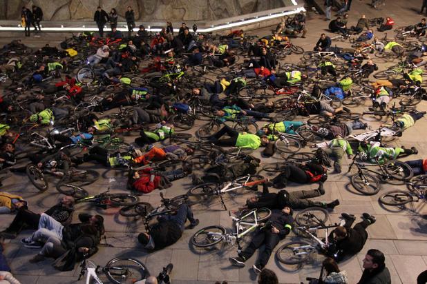 велосипедисти протест