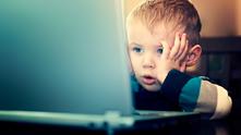 дете, лаптоп, интернет