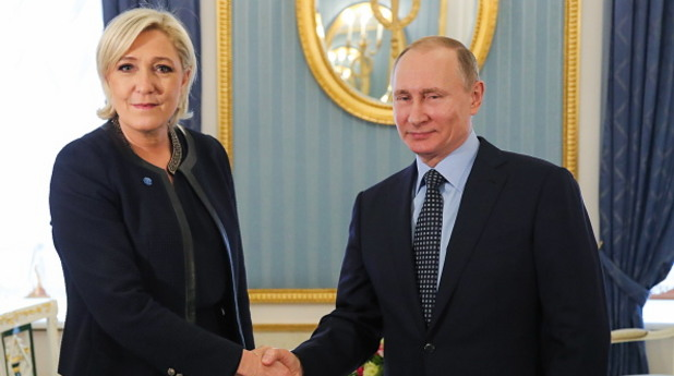 Марин льо Пен и Владимир Путин