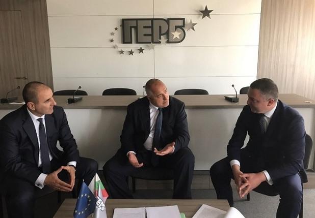 среща на кмета на варна иван портних с лидера на герб бойко борисов