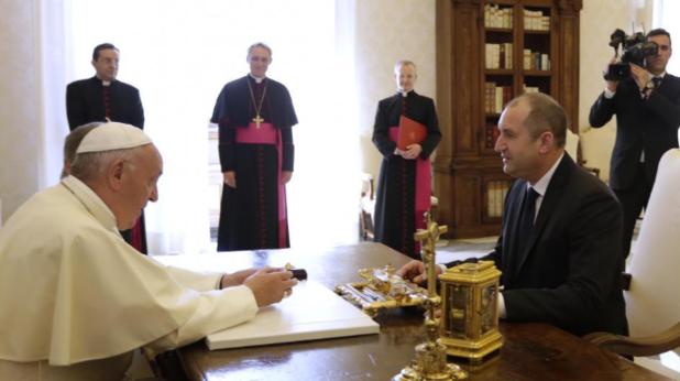 румен радев и папа франциск