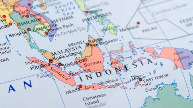 индонезия, карта, острови