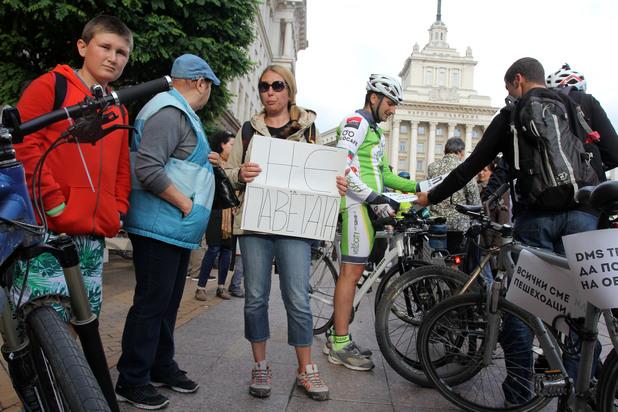 дондуков, велосипеди, протест за велоалеи