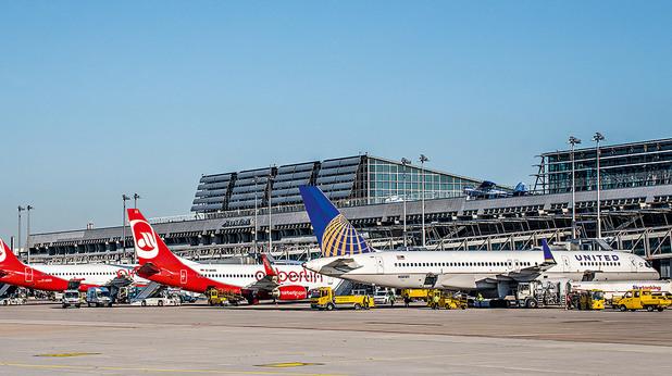 щутгарт, летище, самолети