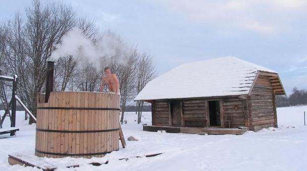 естония, сауна, зима