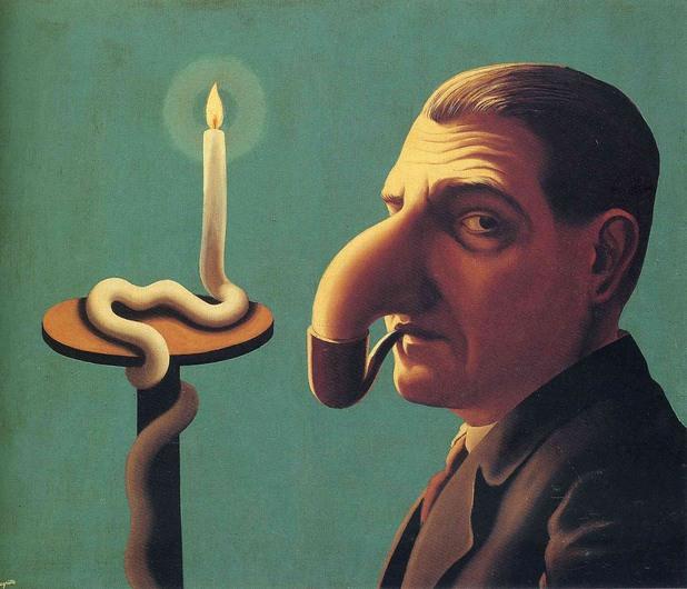 Rene Magritte - La Lampe philosophique, 1936
