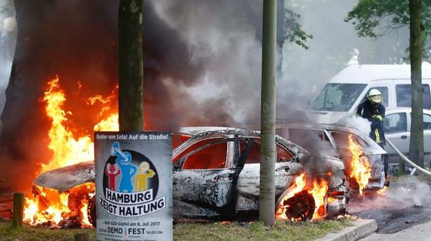 хамбург, г-20, протестиращи, агресия