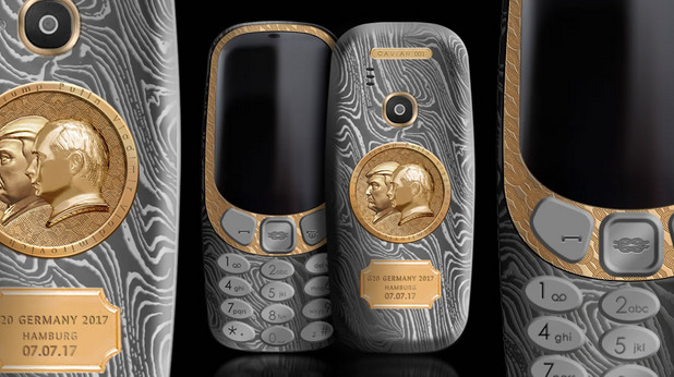 nokia 3310, путин, тръмп, луксозна