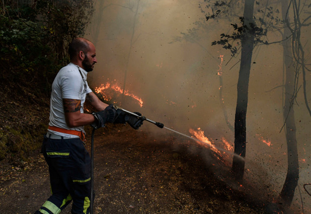 пожари край везувий