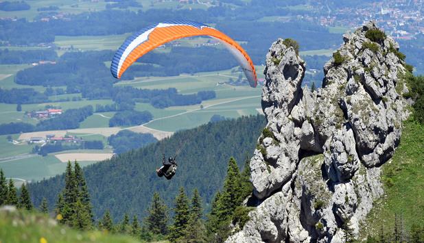 Скачане с парапланер