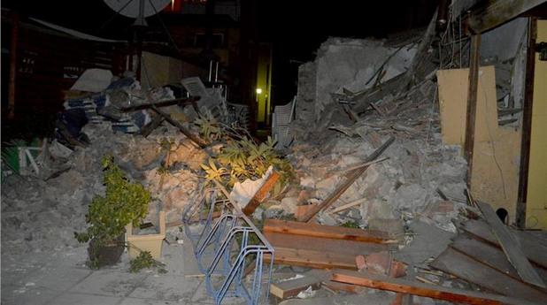 гърция,земетресение,кос,щети