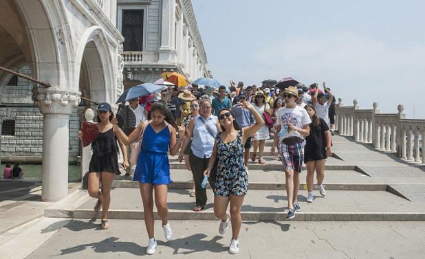 туристи, турист, венеция