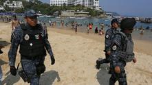 мексико, туризъм, полиция, плаж