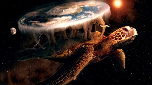 Великата костенурка А'Туин, която носи на гърба си Света на Диска