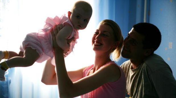 Родители и бебе