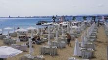 шезлонг, плаж, море, лято