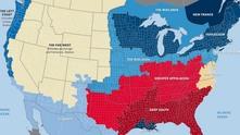 Карта на 11-те нации на САЩ