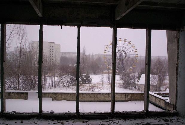 Град Припят в Украйна