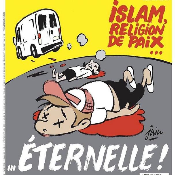 """Атентатът в Барселона през погледа на """"Шарли ебдо"""""""