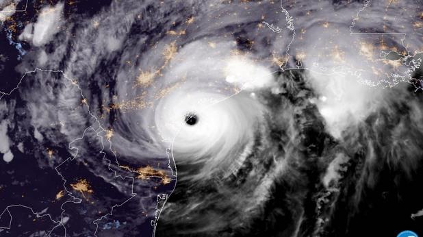 "Сателитна снимка на урагана ""Харви"""
