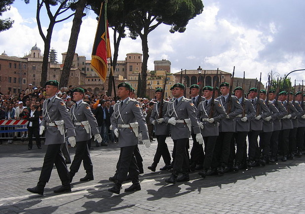 Германски войници на парад