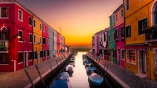 бурано, италия, малката венеция