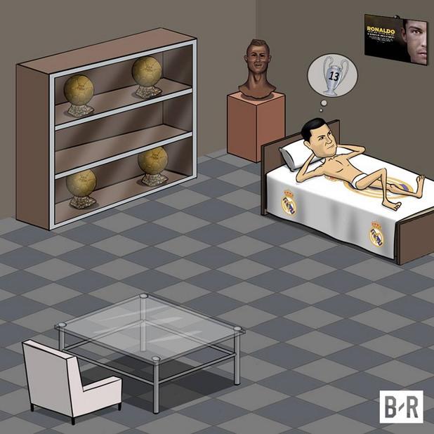 шампионска лига, карикатури, 2017