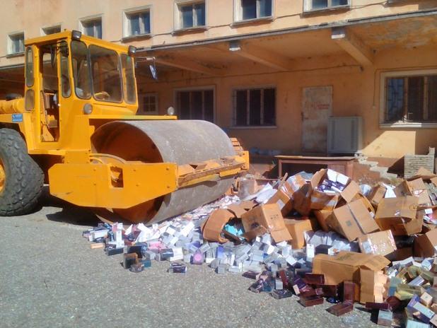 митница бургас, унищожаване на фалшиви стоки