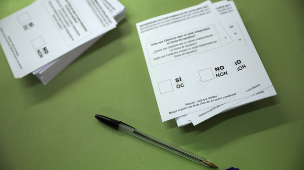 Бюлетината на референдума за независимост в Каталуния