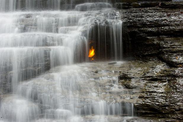 орчард, водопад в орчард, водопад на вечния огън