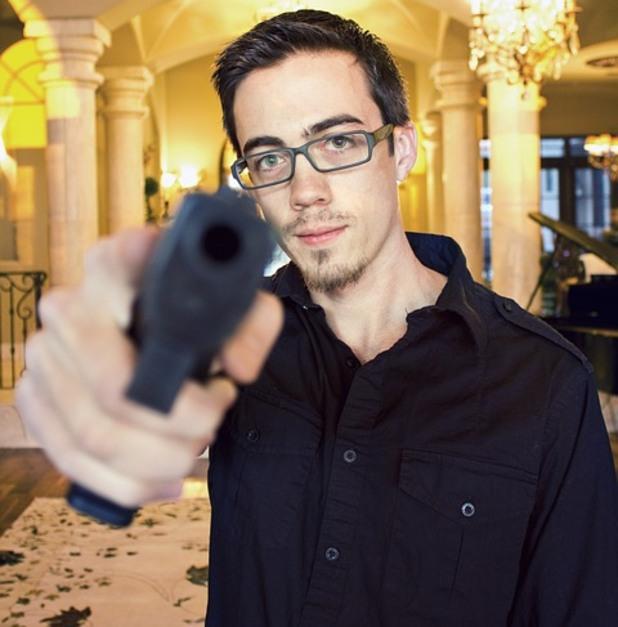 пистолет, оръжие, стрелец