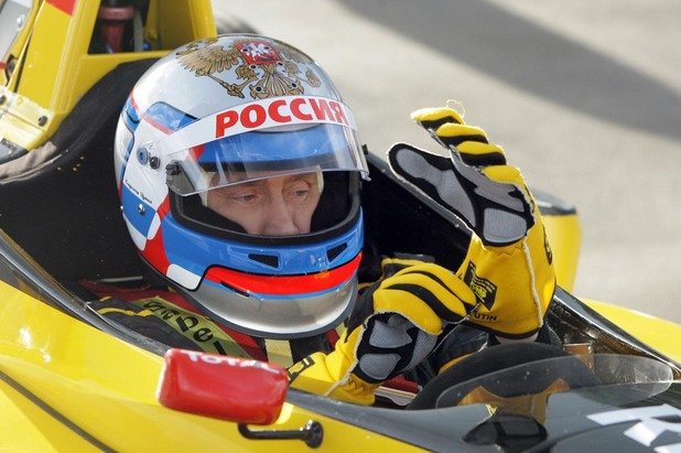 Путин в булид от Формула 1