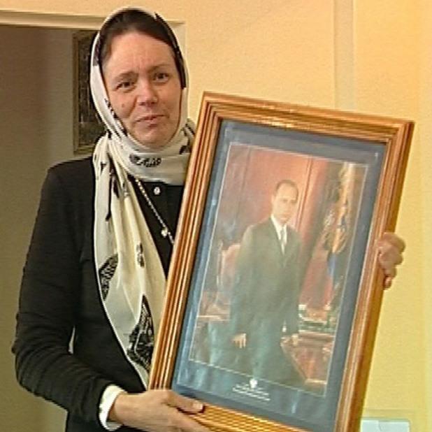 """Светлана Фролова с иконата на """"свети Путин"""""""