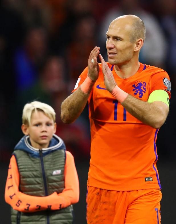ариен робен, холандия, отказване, национален отбор, квалификации, мондиал 2018, швеция