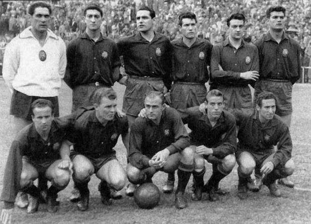 испания, 1957, алфредо ди стефано, ласло кубала, национален отбор, квалификации, 4:1, шотландия