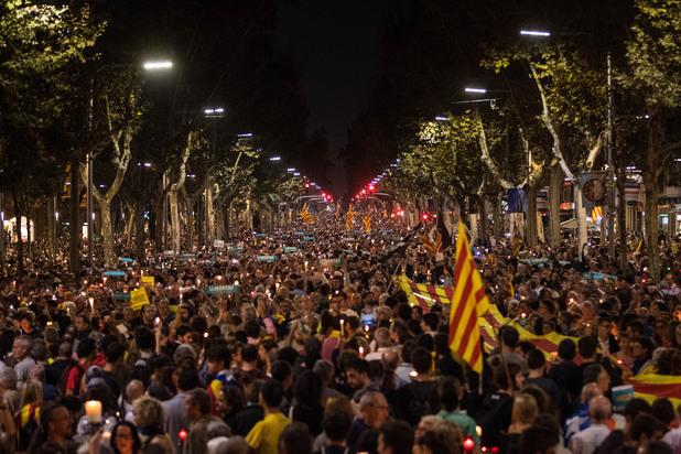 Митинг в Каталуния